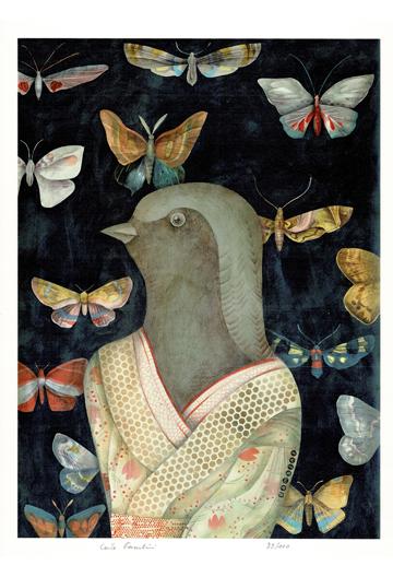 Hirondelle en Kimono
